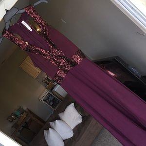 Plum Sequin Formal Dress